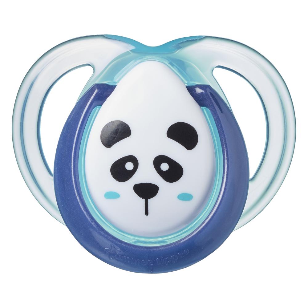 Suzete ortodontice Tommee Tippee Anytime 0-6 luni Ursuleti Panda VerdeAlb