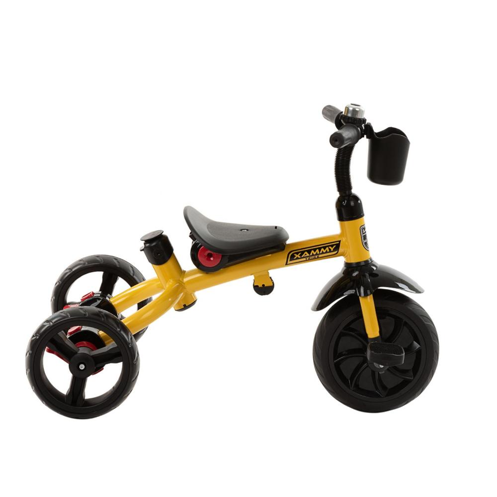 Tricicleta multifunctionala 3 in 1 Xammy Yellow 2020 imagine