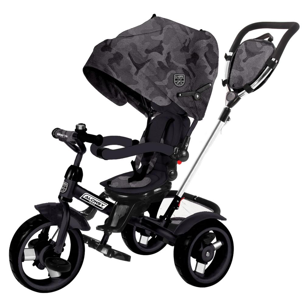 Tricicleta multifunctionala Alonsy Black Camouflage 2020 imagine
