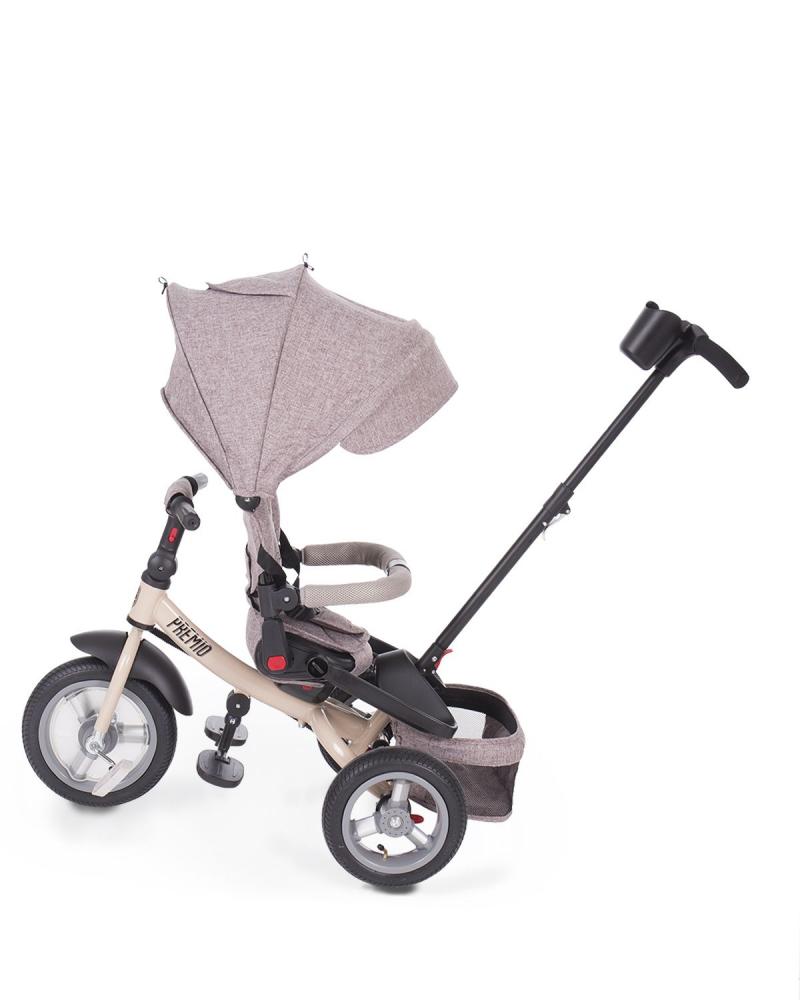 Tricicleta multifunctionala cu roti gonflabile Premio Air Beige Melange