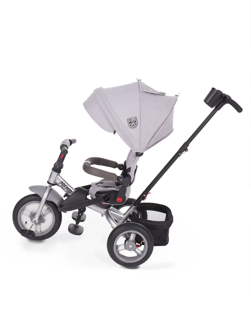 Tricicleta multifunctionala cu roti gonflabile Premio Air Grey Melange imagine