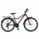 Bicicleta City Velors V2633B 26 inch echipare Shimano 18 viteze gri/portocaliu