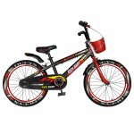 Bicicleta baieti Rich Baby R20WTB 20 inch 7-10 ani negru/rosu