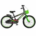 Bicicleta baieti Rich Baby R20WTB 20 inch 7-10 ani negru/verde