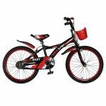 Bicicleta Rich Baby T2004C roata 20 C-Brake 7-10 ani negru/rosu