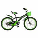 Bicicleta Rich Baby T2004C roata 20 C-Brake 7-10 ani negru/verde