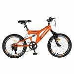 Bicicleta copii 20 inch Rich Alpin R2049A 6 viteze tip frana V-Brake portocaliu/negru 7-10 ani