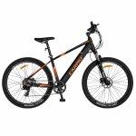 Bicicleta electrica MTB E-Bike Carpat 27.5 C1007E cadru aluminiu negru/portocaliu