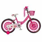Bicicleta fete Rich Baby T2001C roata 20 C-Brake roti ajutatoare 7-10 ani fucsia/alb