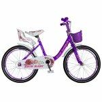 Bicicleta fete Rich Baby T2005C roata 20 C-Brake 7-10 ani mov/alb