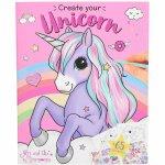 Carte de colorat Create your Unicorn Ylvi Depesche PT10534