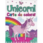 Carte de colorat Unicorni