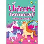 Carte de colorat Unicorni fermecati