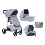 Carucior modular 3 in 1 Ugo  Light Grey Melange 2020