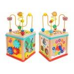 Cub educational multiactivitati Globo din lemn