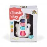 Jucarie interactiva cu muzica si lumini Baby Guitar
