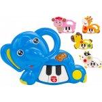 Jucarie muzicala Pian mini cu animal Globo cu sunete si lumini