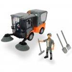 Masina Dickie Toys Playlife Street Sweeper cu figurina si accesorii