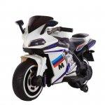 Motocicleta electrica cu lumini LED Sport White