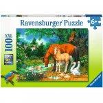 Puzzle animale la iaz 100 piese