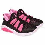 Pantofi sport fete Bibi Evolution Negru/Roz 30 EU