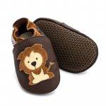 Pantofi cu talpa moale Liliputi cu crampoane antialunecare Protector Lions L 14 cm