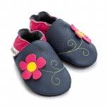 Pantofi cu talpa moale Liliputi cu crampoane antialunecare Spring Flower L 14 cm