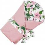Paturica de infasat multifunctionala Velvet Infantilo IF19174 pink flower/roz