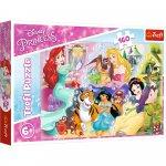 Puzzle Trefl Disney Princess Printesele si prietenii lor 160 piese