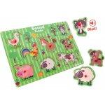 Puzzle animale cu sunete Globo Legnoland 8 piese
