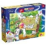 Puzzle de colorat supermaxi 101 Dalmatieni (150 piese)
