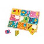 Puzzle din lemn Globo cu numere pentru copii