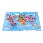 Puzzle educativ Curiozitati de pe mapamond 350 de piese Janod J02677