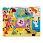 Puzzle tactil Animale de companie 20 de piese Janod J02686