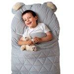 Sac de dormit Dream Catcher transformabil in salteluta Light Grey 120x60 cm