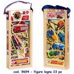 Set 23 figurine din lemn cu magneti RS Toys