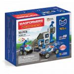 Set magnetic Magformers Uimitorul set de politie
