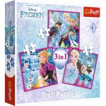 Set puzzle 3 in 1 Trefl Disney Frozen 2 Magia iernii