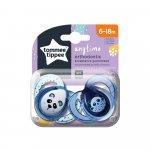Suzete ortodontice Tommee Tippee Anytime 6-18 luni Ursuleti Panda Albastru/Alb