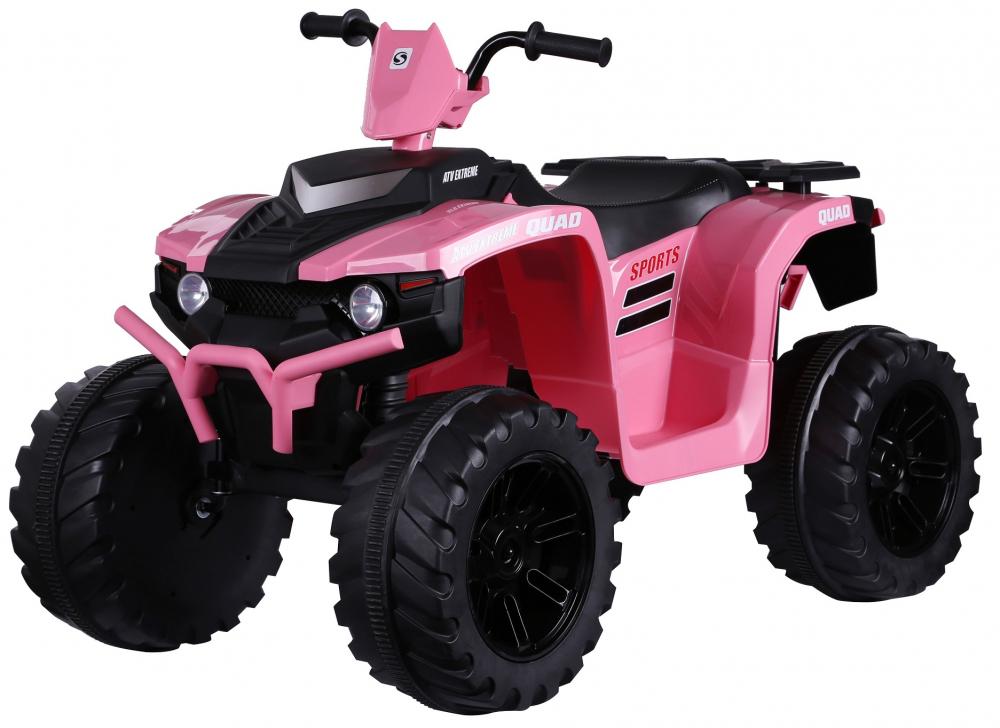 ATV electric Nichiduta Extreme Quad cu roti din cauciuc Pink - 6