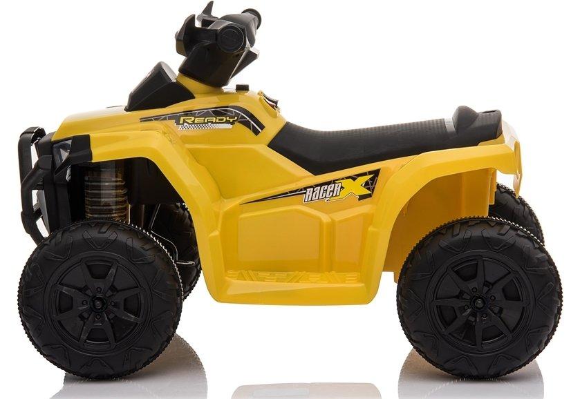 Atv electric 6V Nichiduta Racer X cu roti Eva Galben - 7