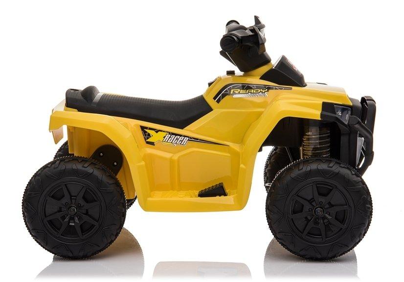 Atv electric 6V Nichiduta Racer X cu roti Eva Galben - 9