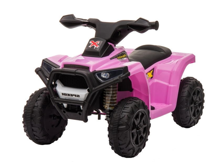 Atv electric 6V Nichiduta Racer X cu roti Eva Pink - 8