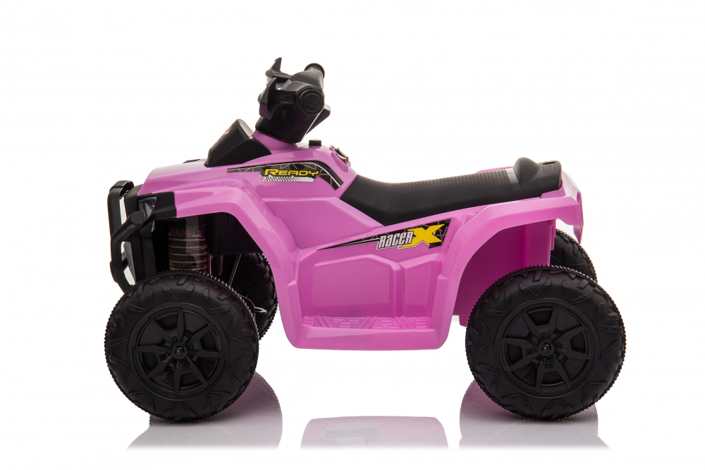 Atv electric 6V Nichiduta Racer X cu roti Eva Pink
