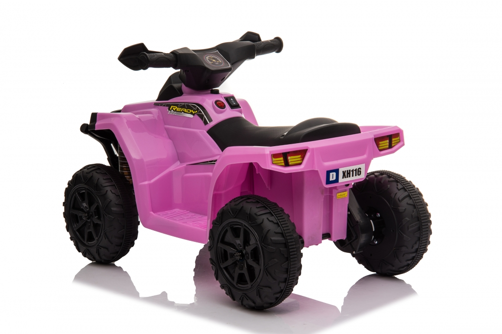 Atv electric 6V Nichiduta Racer X cu roti Eva Pink - 1