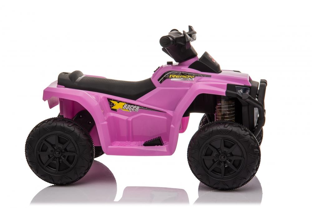 Atv electric 6V Nichiduta Racer X cu roti Eva Pink - 2