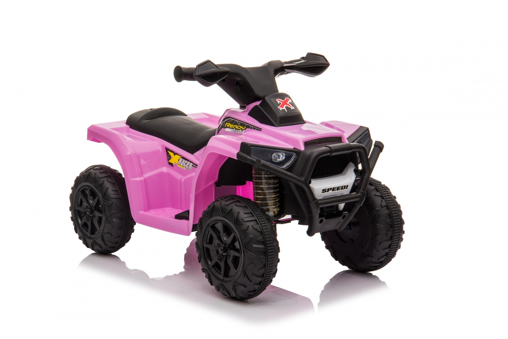 Atv electric 6V Nichiduta Racer X cu roti Eva Pink - 3