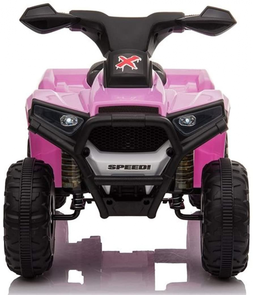 Atv electric 6V Nichiduta Racer X cu roti Eva Pink - 4