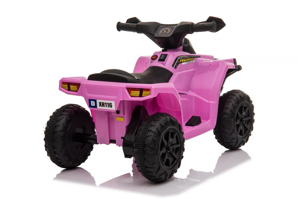 Atv electric 6V Nichiduta Racer X cu roti Eva Pink - 5