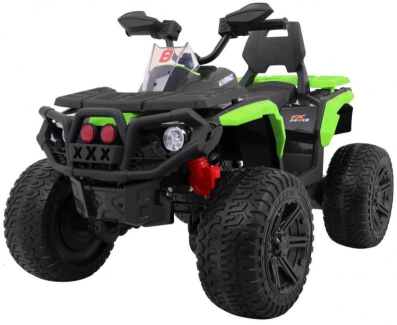 Atv electric cu roti din cauciuc 12V Nichiduta Hunter Pro Green - 8